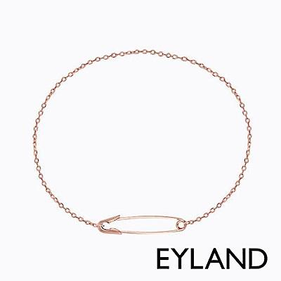 Eyland英國倫敦 MAYA 個性迴紋針玫瑰金手鍊
