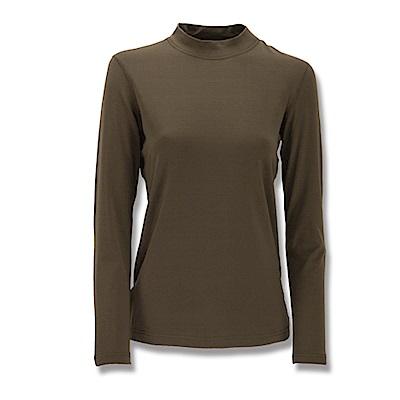 【Wildland 荒野】女遠紅外線彈性保暖衣橄欖綠