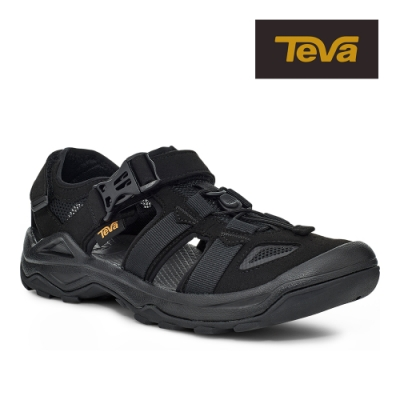 【TEVA】原廠貨 男 Omnium Faux Suede 護趾水陸機能涼鞋/雨鞋/水鞋(黑色-TV1116202BLK)