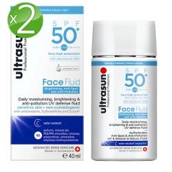 Ultrasun優佳 隔離多效亮膚防曬乳SPF50+*2入組PA++++(40ml/罐)