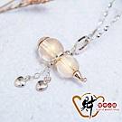 財神小舖 愛戀 葫蘆項鍊 開運黃 925純銀 (含開光) MS-1004-5