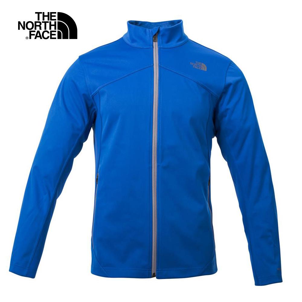 The North Face北面男款藍色防風軟殼夾克外套   3F4GWXN