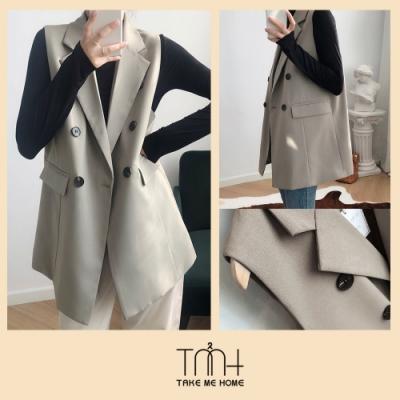 韓國無袖西裝外套-2色-TMH