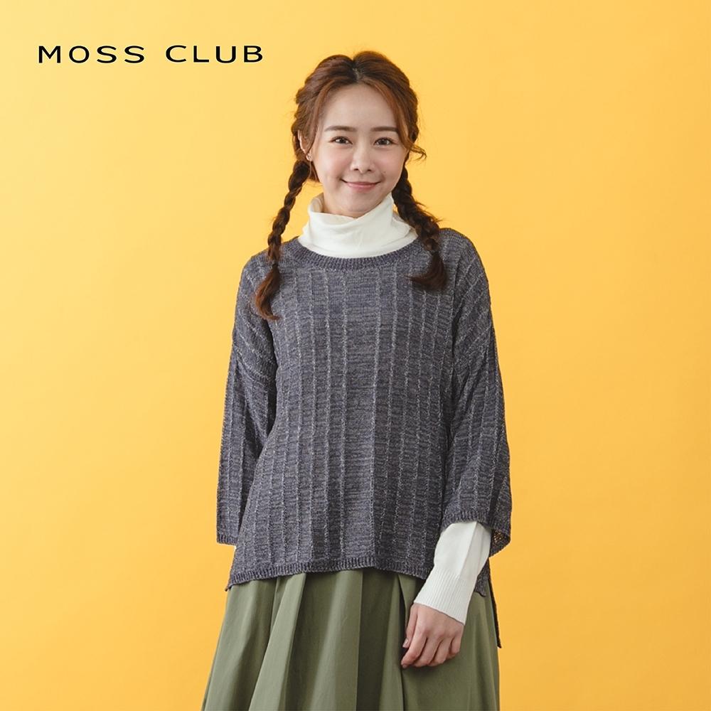 【MOSS CLUB】MIT製 經典編織-針織衫(三色)