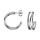 CALVIN KLEIN Sumptuous 系列個性白鋼耳環
