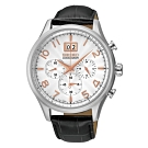 SEIKO精工 CS大視窗計時腕錶-銀/42mm(7T04-0AE0W/SPC087P1)