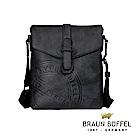 BRAUN BUFFEL - 瑞諾斯系列斜背包 - 黑
