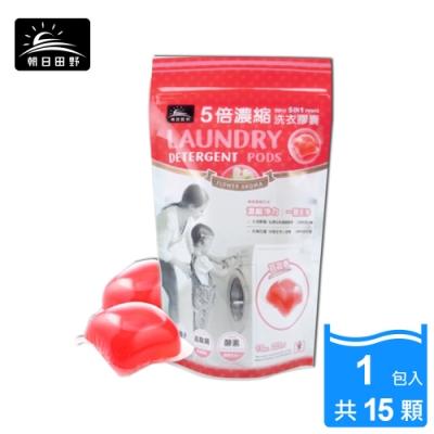 朝日田野 5倍濃縮 百花香 洗衣膠囊膠球15顆/包