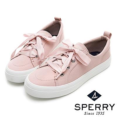 SPERRY 經典粉彩系緞帶帆布鞋(女)-粉色