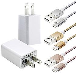 電池王 鋁合金編織For iPhoneX/8+ Lightning 用系列輕巧充電組