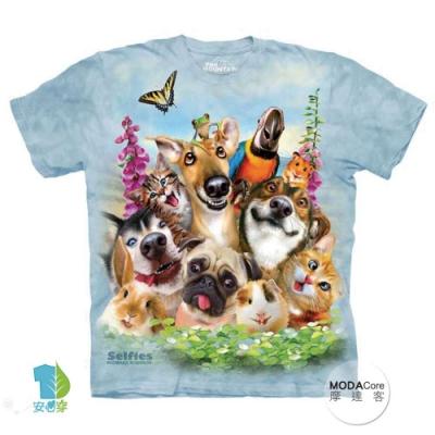 摩達客-美國The Mountain 寵物們哦耶 純棉環保短袖T恤