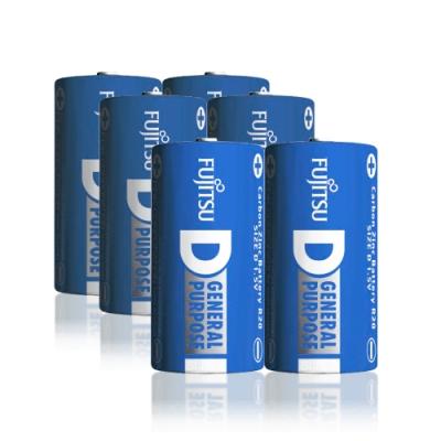 FUJITSU 日本富士通 藍版能量1號D碳鋅電池(6顆入) R20 F-GP