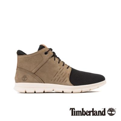 Timberland 男款淺棕色磨砂革休閒鞋|A24KE