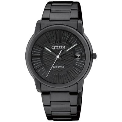 CITIZEN 星辰PAIR 太陽能大三針腕錶-IP黑32mm(FE6015-56E)