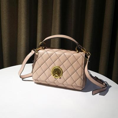 米蘭精品 側背包真皮手提包-菱格縫線牛皮時尚女包包情人節生日禮物3色73yj36