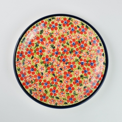 波蘭陶 繁花艷野系列 圓形餐盤 27cm 波蘭手工製