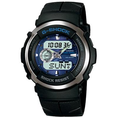 G-SHOCK 迅雷戰士運動賽車錶(G-300-2A)-炫藍/51.7mm