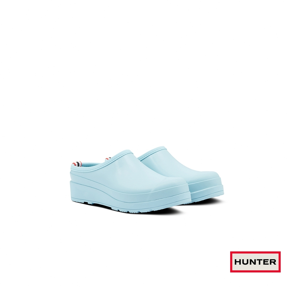 HUNTER -女鞋-PLAY霧面穆勒鞋-尤加利藍