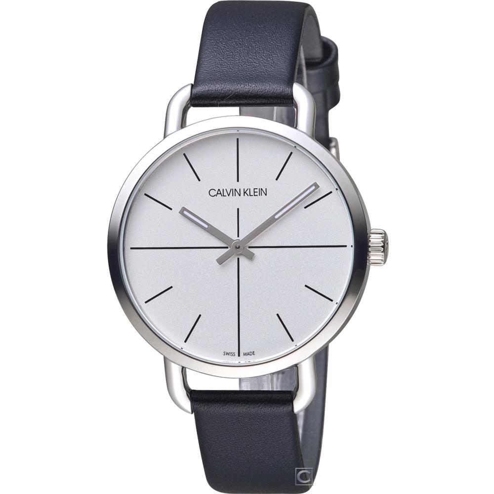 Calvin Klein K7B even 超然時尚腕錶(K7B231CY)白/36mm