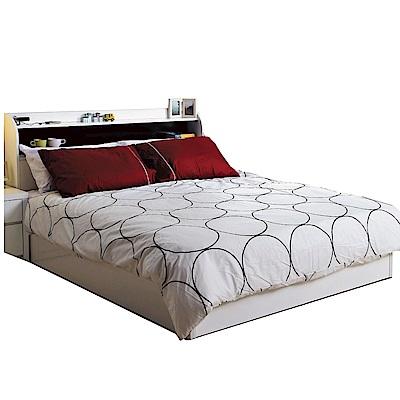 品家居 亞地5尺雙人床台組合(不含床墊)-152x208x94cm免組