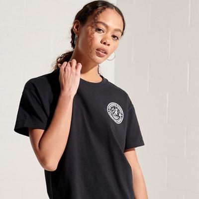 SUPERDRY 女裝 短袖T恤 EXPEDITION BOXY 黑