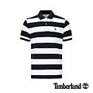 Timberland 男款深藍寶石粗條紋短袖POLO衫|A288K