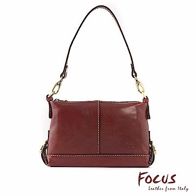 FOCUS經典原皮兩用手提肩背小方包(FTE7028)