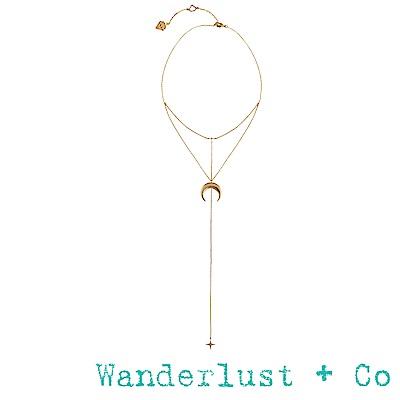 Wanderlust+Co 銀河套頸項鍊 - 金色