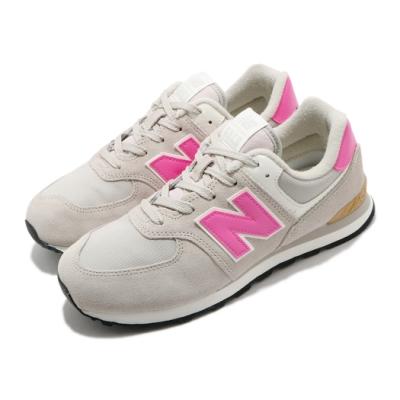 New Balance 休閒鞋 574 Wide 寬楦 運動 女鞋 紐巴倫 基本款 簡約 舒適 大童 穿搭 灰 粉 GC574ME2W