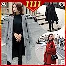 [時時樂限定]2F韓衣-韓系經典款百搭保暖毛呢大衣(多款任選)