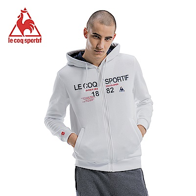 le coq sportif 法國公雞牌刷毛連帽外套 男女-白