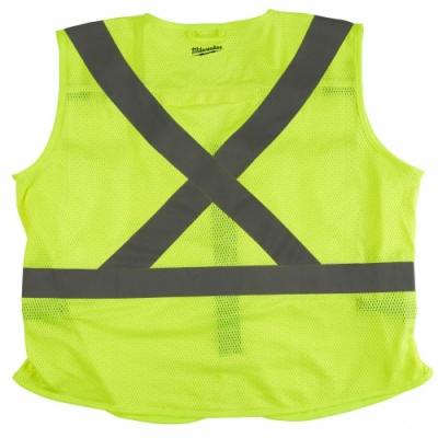 Milwaukee 美沃奇 專業版 工程 反光背心 10個口袋 螢光黃色48-73-5062