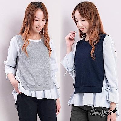 白鵝buyer 襯衫綁帶背心兩件式造型上衣
