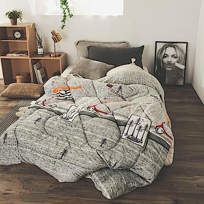 絲薇諾 MIT法蘭絨暖暖被-滑板熊-145×195cm