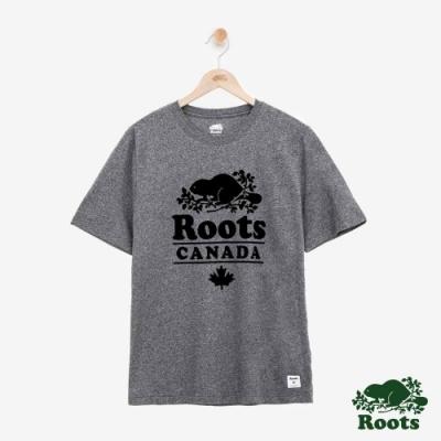 男裝Roots 溫馨度假小屋短袖T恤-灰色