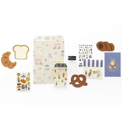 Dailylike 小市集創意文具組合包-04麵包店