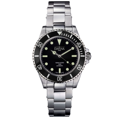 DAVOSA 161.525.505 TERNOS SIXTIES 60 年代復刻專業潛水自動錶/黑水鬼/鋼帶/40mm