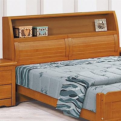 綠活居 勞森時尚5尺實木雙人床頭箱(不含床底)-157x29x108cm免組