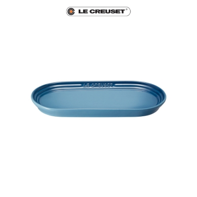LE CREUSET瓷器日式橢圓盤25cm(水手藍)