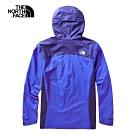 The North Face北面男款藍色防水透氣戶外衝鋒衣 3VSNG4C