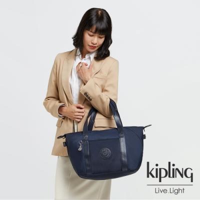 Kipling 質感沉穩藍手提側背包-ART