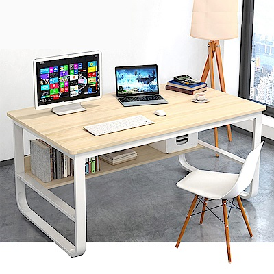 [時時樂] Incare 高質感-鋼木多用收納工作電腦桌(120公分/2色可選)