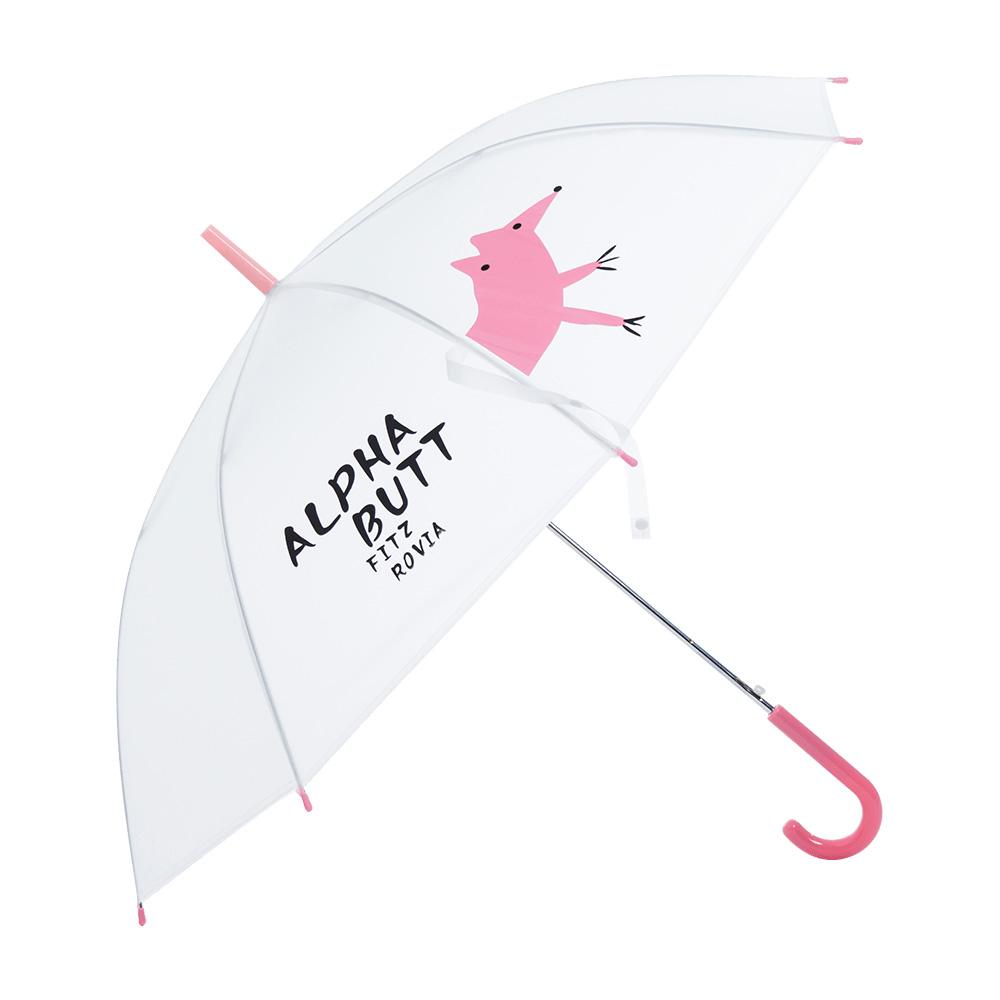 樂嫚妮 自動開傘/直立雨傘- 粉豬