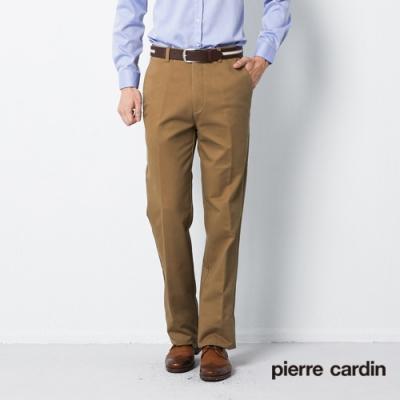 Pierre Cardin皮爾卡登 男裝 保暖刷毛彈力平口休閒褲--卡其色(5185832-82)