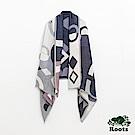 Roots配件- 帕克伯圍巾-藍