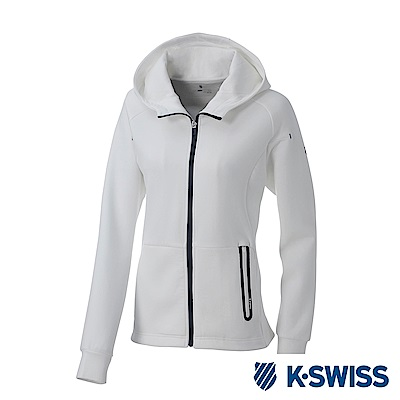 K-SWISS Traning Zip Up女運動外套-女-白
