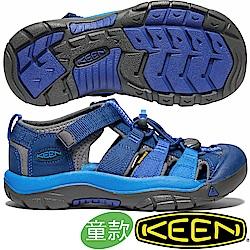 KEEN 1020360藍/寶藍 NewPort H2青少年戶外護趾涼鞋