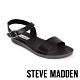 STEVE MADDEN-LEAGUE 搶眼一字帶繫帶低跟涼鞋-黑色 product thumbnail 1