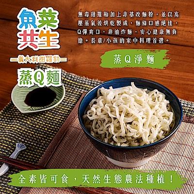 城田魚菜共生 義大利甜羅勒蒸Q麵 淨麵(素)(5包/袋)