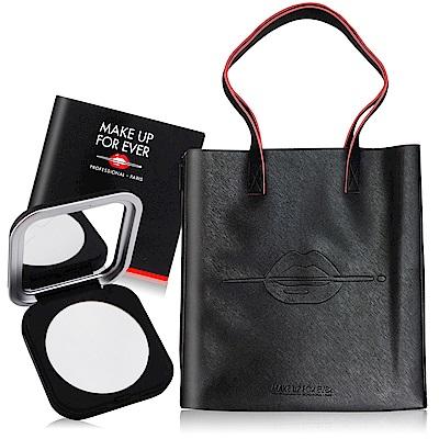 MAKE UP FOR EVER ULTRA HD超進化無瑕微晶蜜粉餅6.2g+唇印手提袋